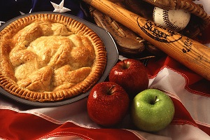 Baseball + apple pie = America