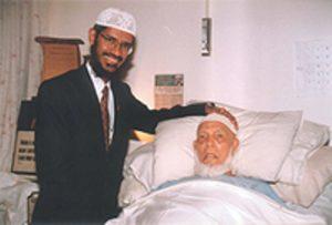 Dr Zakir Naik with Ahmed Deedat