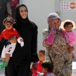 Refugee women from Syria