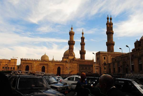 Amatullah: infront of masjid al azhar