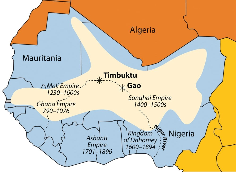 Map of the Ashanti Empre