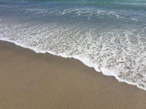 Seashore, beach waterline