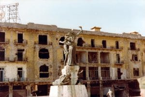 Martyr's Square, Beirut, during the civil war