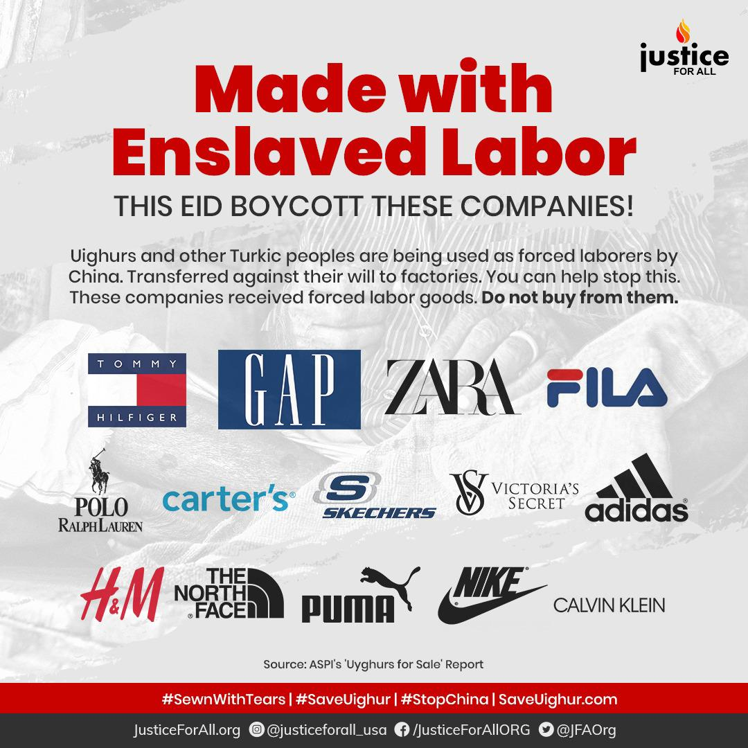 This Eid And Beyond Boycott Goods Made With Enslaved Labor