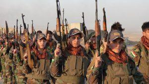 Female peshmerga fighters