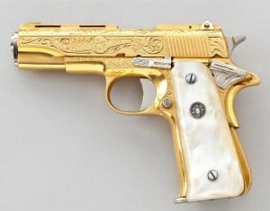 Gold plated gun