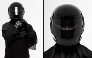 Motorcycle safety and Islamic modesty rolled into one from Deathspraycustom.com