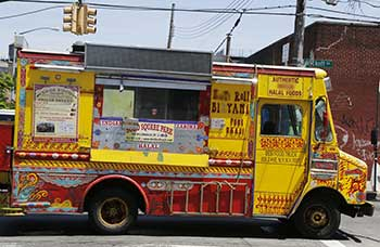 Mexican food truck.