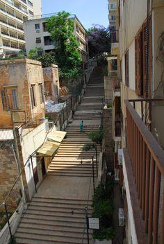 Saint Nicholas steps in Beirut