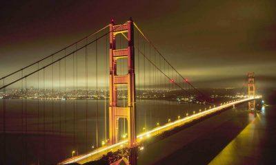 San Francisco's Golden Gate Bridge at night