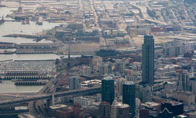Aerial photo of San Francisco Embarcadero and South Beach