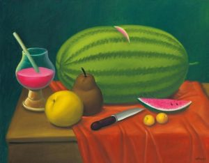 """Still Life With Fruits"" by Fernando Botero"