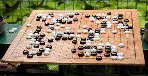 Weiqi or Go game board.