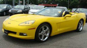 Yellow Corvette convertible